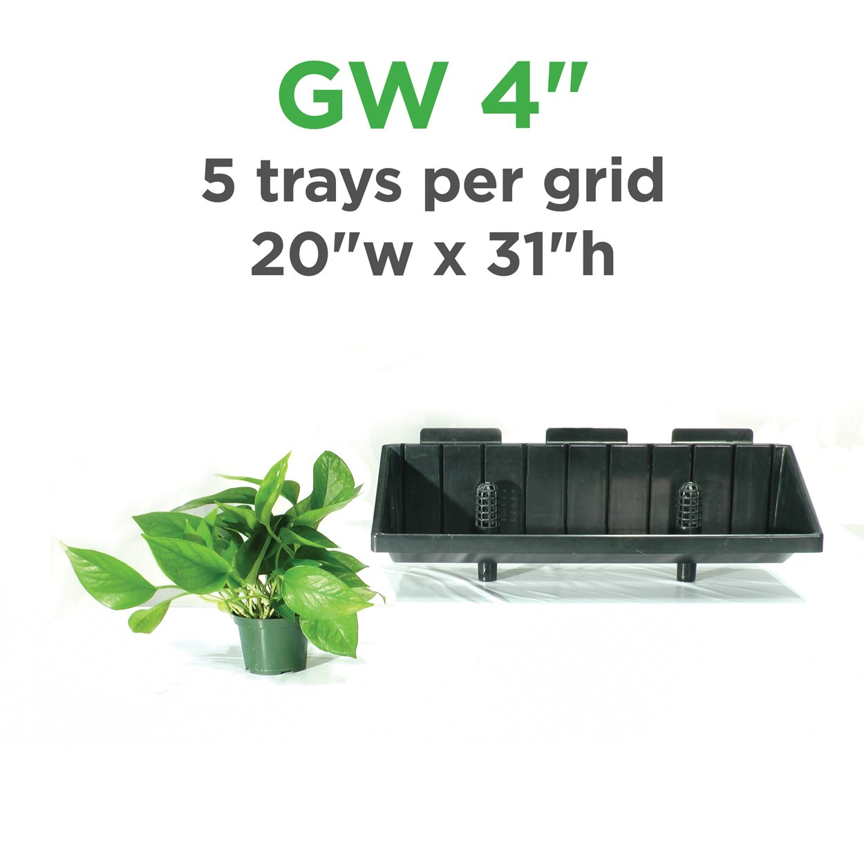 "Green Wall Vertical Planter Kit for 4"" Grow Pots"