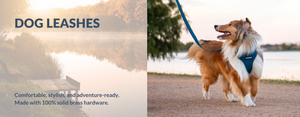 Django Adventure Dog Leashes - Comfortable, Durable, Stylish and Modern Dog Leads with Solid Brass Hardware - djangobrand.com