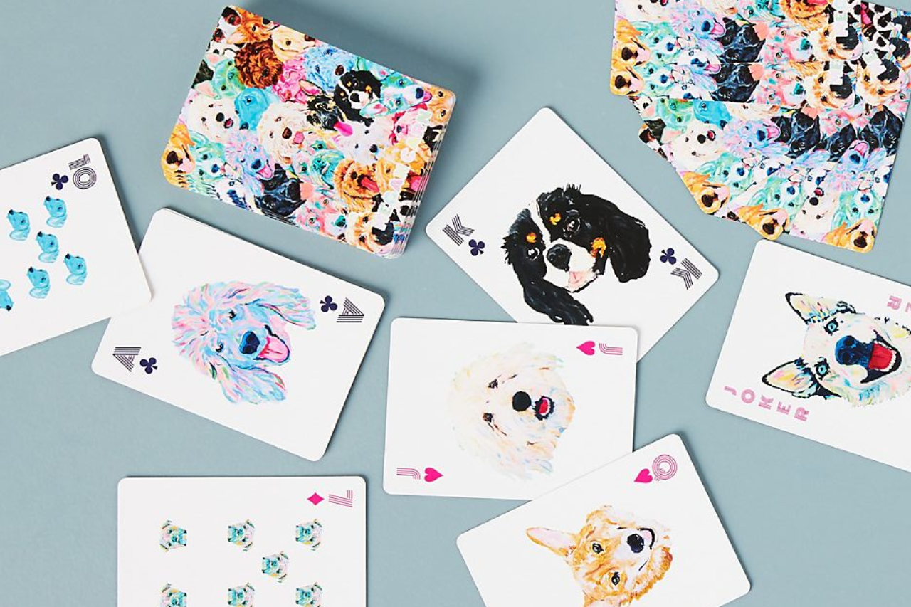 Anthropologie | Dog Playing Cards