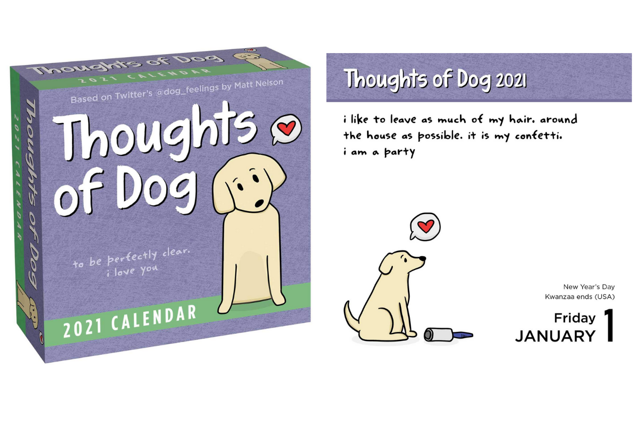 Best Gifts for Dog Lovers - Matt Nelson (Author) Thoughts of Dog Calendar
