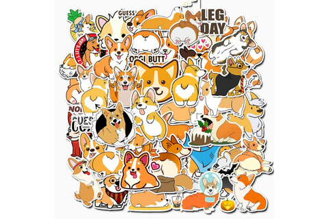 Best Corgi Gifts for Corgi Lovers - Corgi Sticker Set for Kids