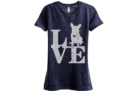 Thread Tank Corgi Love T-Shirt for Women