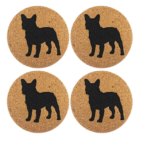 best French Bulldog gifts - drink coasters