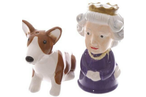 Best Corgi Gifts - Queen and Corgi Salt and Pepper Shakers