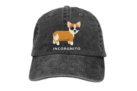 Best Corgi Gifts - Incorgnito Distressed Baseball Cap
