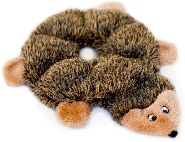 Best Plush Dog Toys -  ZippyPaws - Loopy Hedgehog No Stuffing Squeaky Plush Dog Toy - For Small and Medium Dogs