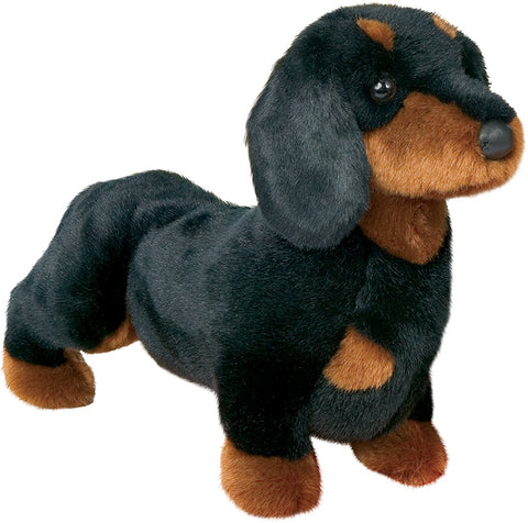 Black and Tan Dachshund Dog Stuffed Toy for Kids and Babies
