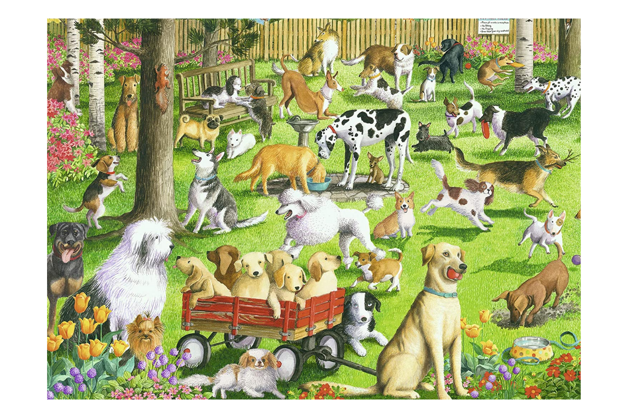 Ravensburger at The Dog Park Large Format 500 Piece Jigsaw Puzzle for Adults