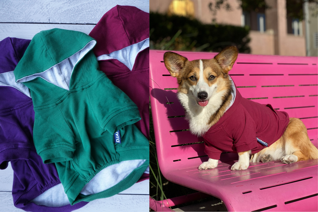DJANGO Dog Hoodies - Soft, stretchy, stylish and durable dog sweaters on djangobrand.com