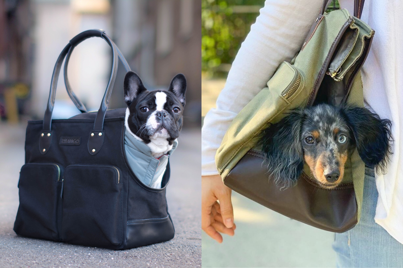 DJANGO's waxed canvas and leather pet tote