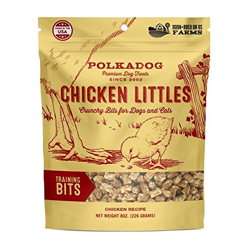 Chicken Little dog training bits from polkadog bakery