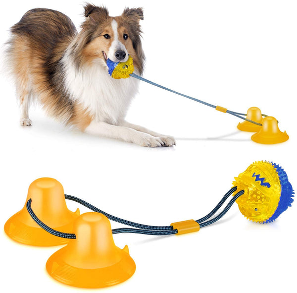 Best Interactive Dog Toys - ComfiTime Suction Cup Dog Toy - Upgraded Design and Materials, Interactive Dog Chew Toy for Teething, Durable Dog Ball and Rope Toy for Boredom.jpg