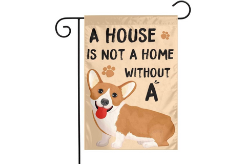 Best Corgi Gifts - Corgi Home Garden Outdoor Flag