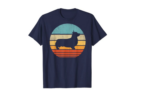 Corgi Men's Retro Tee T-shirt - Best Corgi Gifts for Women, Men, Children, the Home, and all Corgi Lovers - djangobrand.com