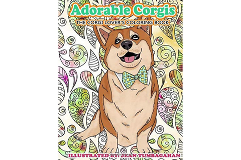 Corgi coloring book for kids