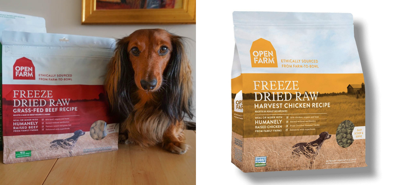 DJANGO Dog Blog - Open Farm Freeze Dried Raw Dog Food