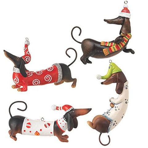 sausage dog tree ornaments