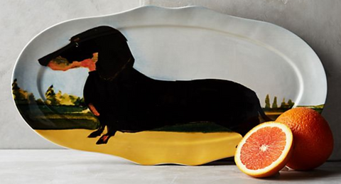 Sally Muir Dog-A-Day Dachshund Serving Platter via Anthropologie