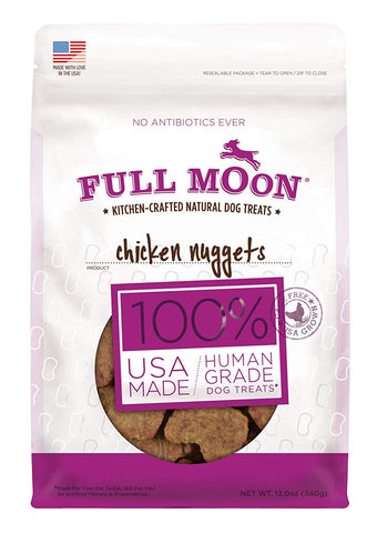 Full Moon All Natural Human Grade Dog Treats, Chicken Nuggets