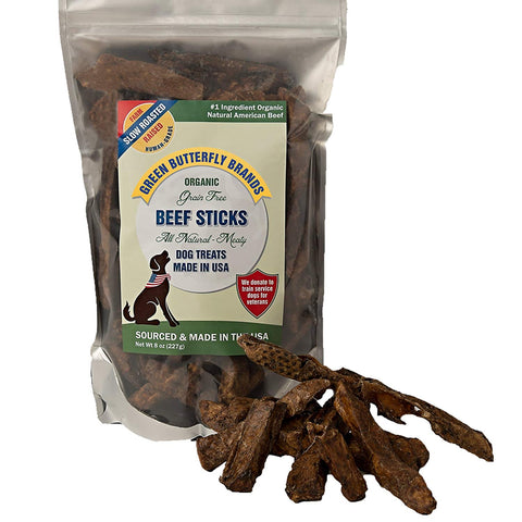 Green Butterfly Brands Organic Grain Free Beef Sticks