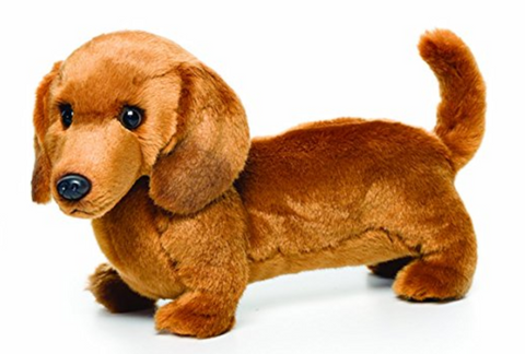 Large Dachshund Dog Children's Plush Stuffed Animal Toy by Nat and Jules