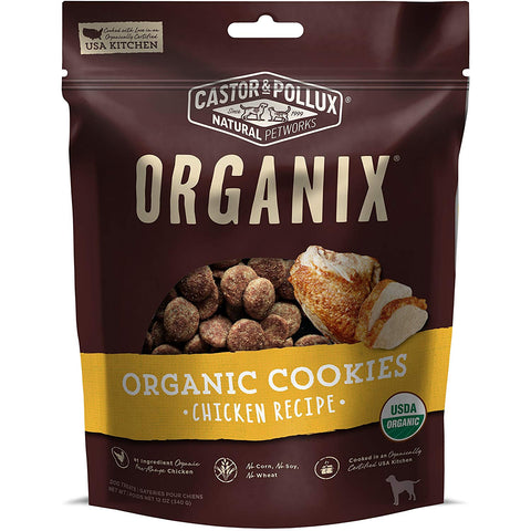 Organix Castor & Pollux Chicken Flavored Dog Cookies