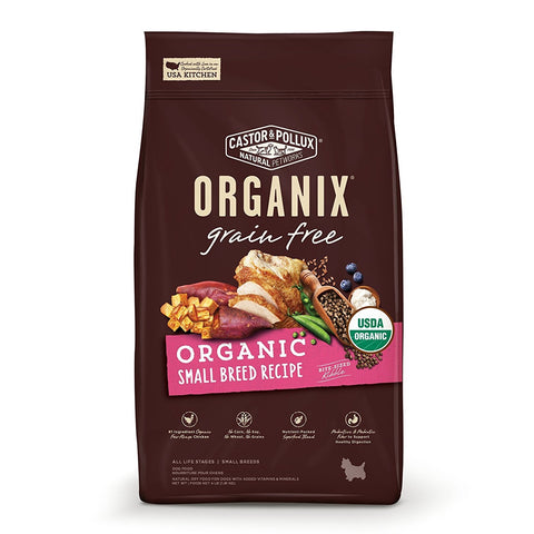 ORGANIX CASTOR & POLLUX: GRAIN FREE ORGANIC SMALL BREED RECIPE