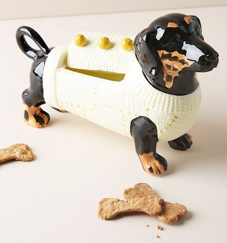Dapper Dachshund Dog Cookie Jar at Anthropologie