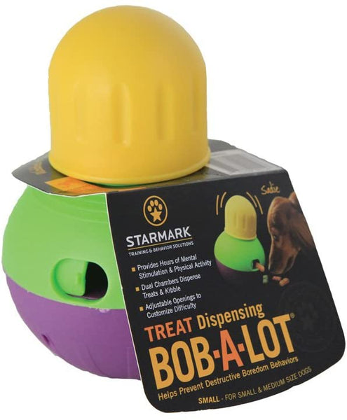 Best Interactive Dogs Toys on Amazon - StarMark Bob-A-Lot Interactive Dog Toy