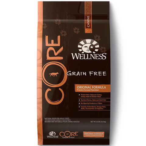 Wellness Core Grain Free Dry Dog Food - Original Turkey & Chicken Recipe