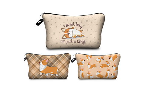Best corgi gifts for women - corgi cosmetic and toiletry bags for women