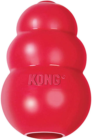 The Best Dog Toys: kong classic rubber interactive dog toy