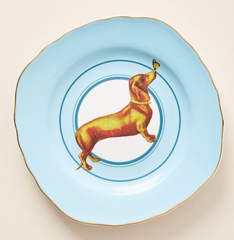 lillibet dachshund side plates from anthropologie