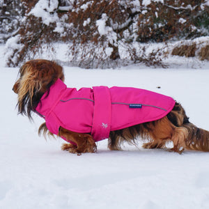 DJANGO City Slicker All-Weather Rain & Snow Dog Coat - Cerise Pink - djangobrand.com