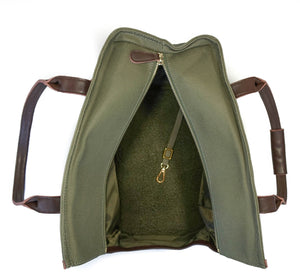 The DJANGO Pet Tote - Waxed Canvas & Leather Dog Carry Bag - Olive Green
