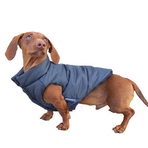 DJANGO - The Reversible Puffer Dog Coat - Matte Navy - djangobrand.com
