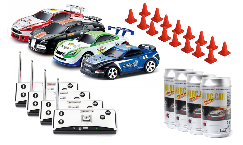 mini rc car 4 pack mini rc cars toys. Black Bedroom Furniture Sets. Home Design Ideas