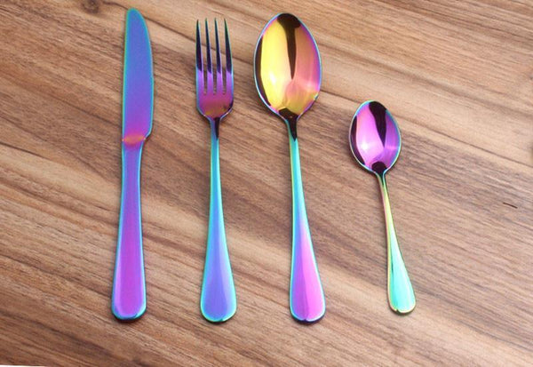 Prismatic Rainbow Cutlery (4 Piece Set)