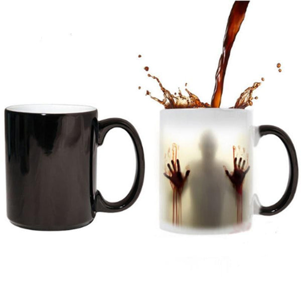 Heat Sensitive Bloody Hands Mug