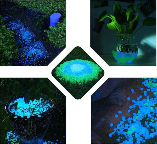 Gleam - Glow-in-the-Dark Garden Pebbles