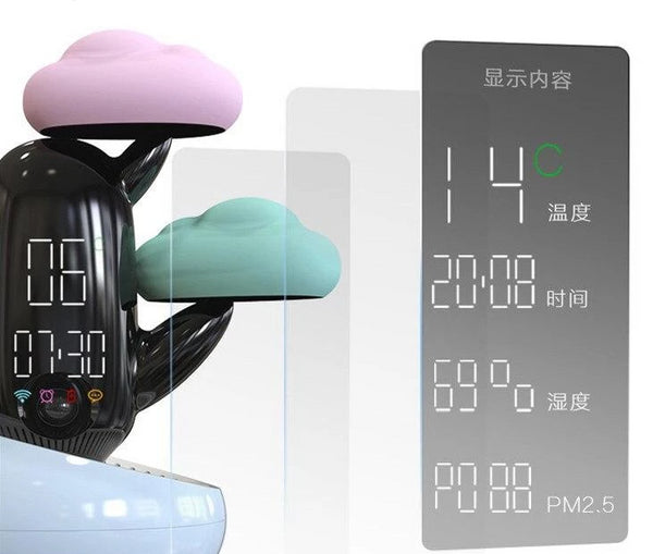 Cakty - LED Weather & Clock Bedside Buddy