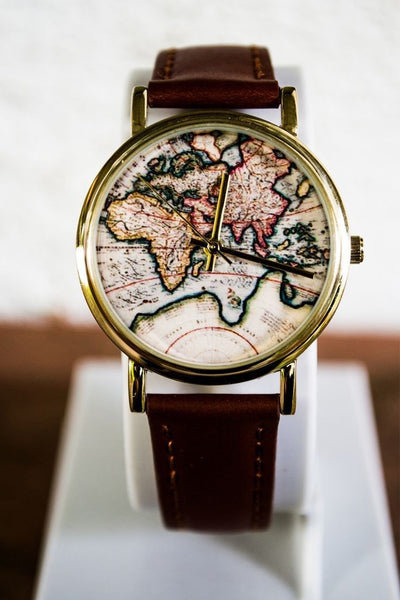 Vintage wanderlust map watch sugar cotton vintage wanderlust map watch gumiabroncs Image collections