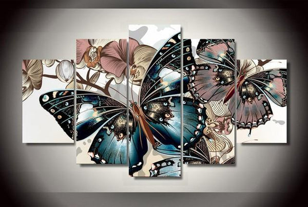 5 Piece Butterfly Garden - GemPaint™ Kit