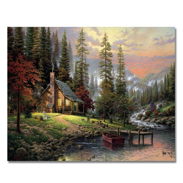 The Cabin By the Lake - Van-Go Paint-By-Number Kit