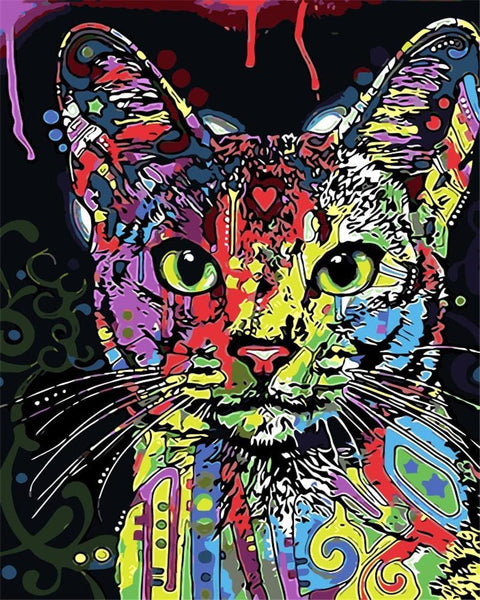 Color Splash Cat - Van-Go Paint-By-Number Kit
