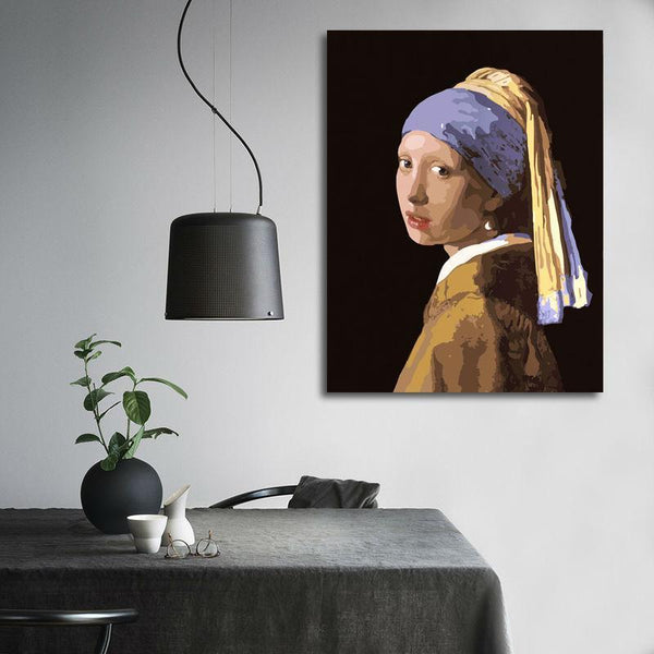 Girl With a Pearl Earring - Van-Go Paint-by-Number Kit