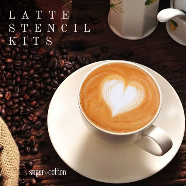 Latte Stencil Kit - 16 Piece Set