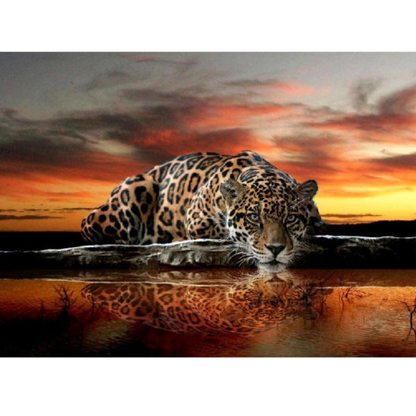 Leopard Reflection - GemPaint™ Kit