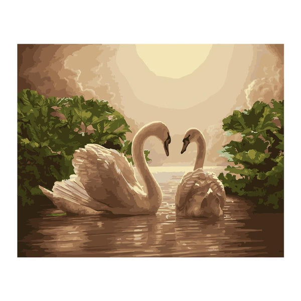 Swan Moonlight Lake - Van-Go Paint-By-Number Kit