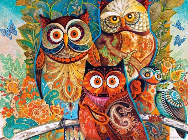 Abstract Owls - Van-Go Paint-By-Number Kit